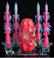 Свечи для свадьбы,  свадебные наборы.