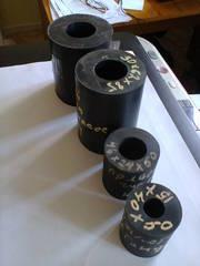 Втулки,  ролики из масло-стойкой резины