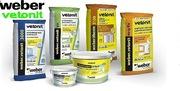 Сухие смеси производителя Weber Vetonit (Вебер Ветонит)